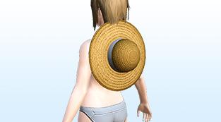 Neck-Slung Straw Hat