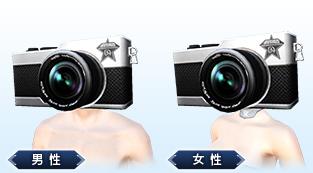 カメラヘッド(ヘアスタイル:男女共用)