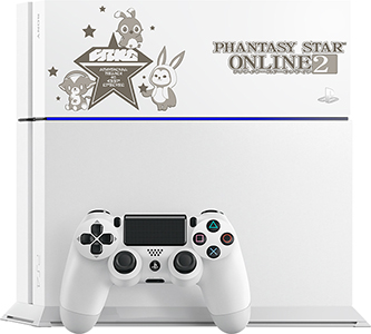 「ファンタシースターオンライン2 PS4&regHDDベイカバー『マスコットVer』」を取り付けたPS4®本体